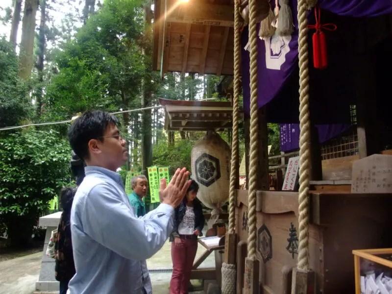 妙義神社にお祈り