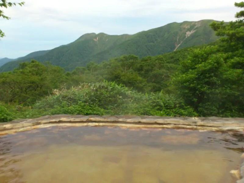 早朝の露天風呂