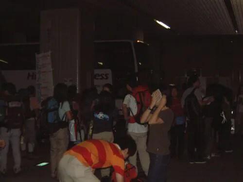 都庁地下のバス乗り場