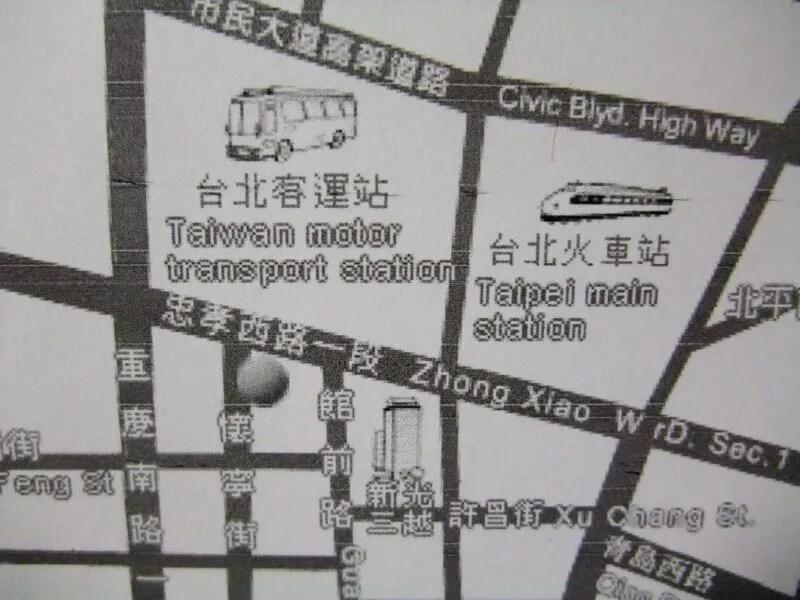 懷寧旅店の地図