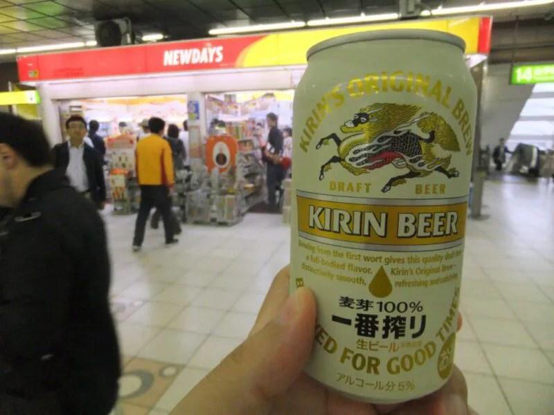 朝からビールを買う