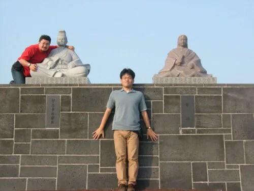 宇喜多秀家の石像