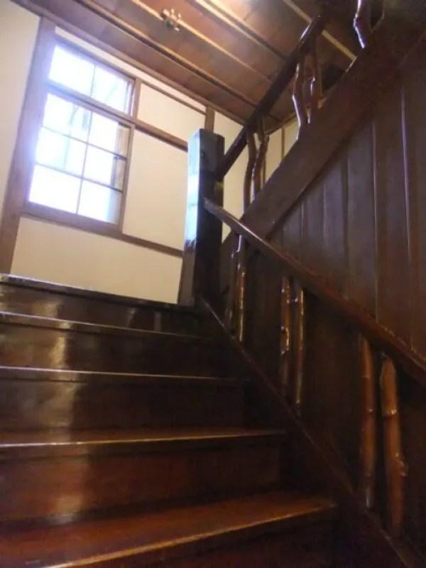 木造の階段