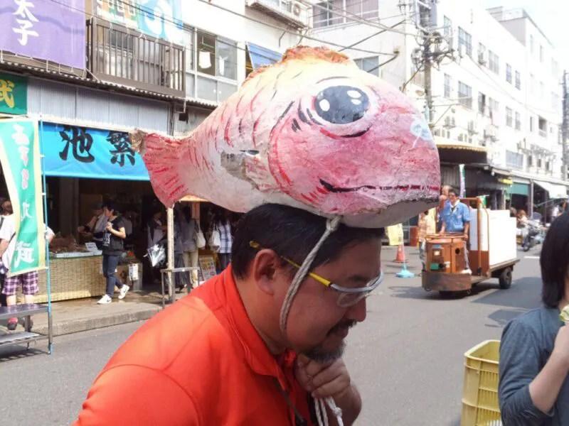 魚のかぶりもの