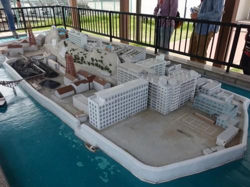 軍艦島ミニチュア模型1