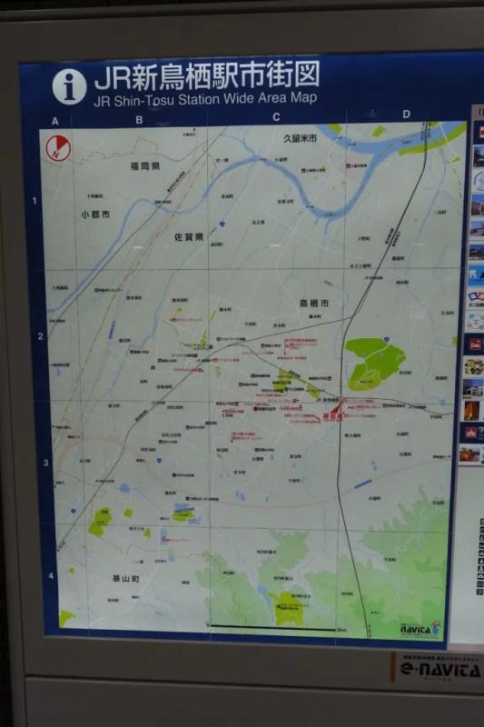 新鳥栖駅地図