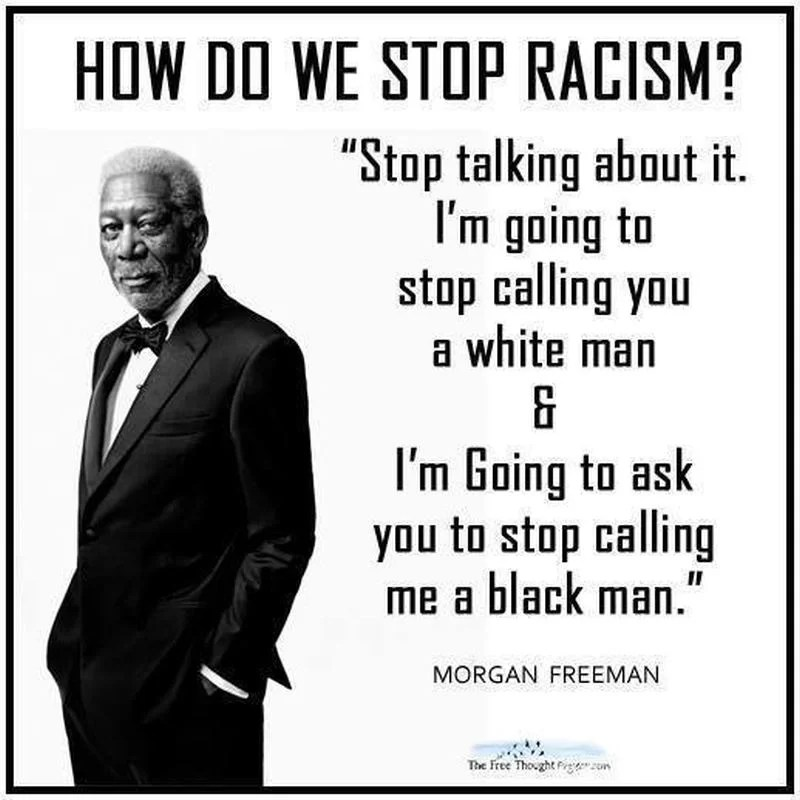 Image result for image of morgan freeman on racism