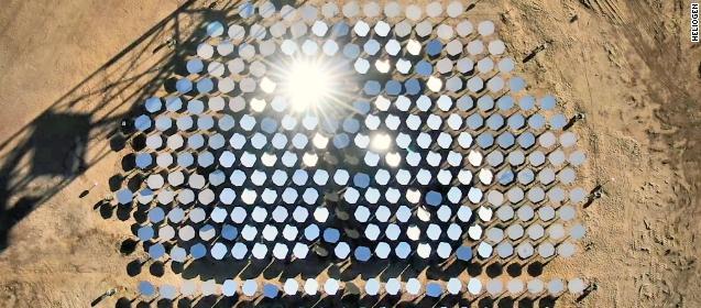 Heliogen, les panneaux solaires permettent d'atteindre des températures record.