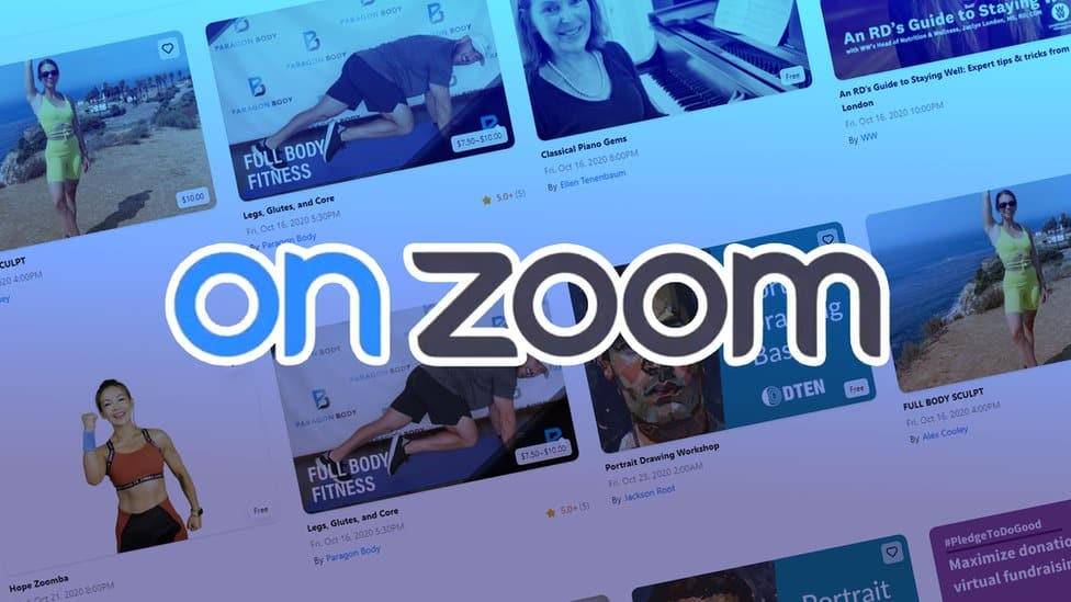 Zoom s'intéresse aux événements payants en ligne grâce à une nouvelle plateforme appelée OnZoom. via @awasocial