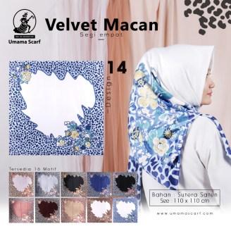 jilbab segiempat velvet macan umama scarf