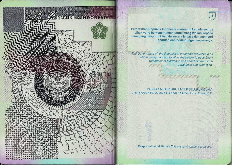indonesia passport design