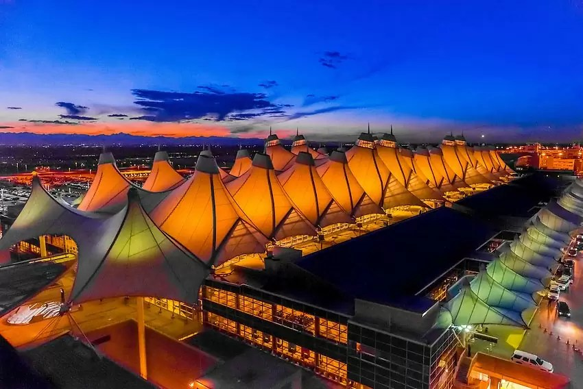 denver airport 01 - Most beautiful airports in the world