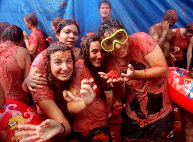 La Tomatina - Weird Things to do in Europe