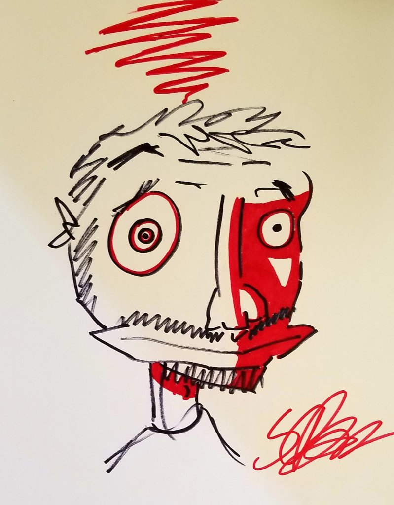 Self Portrait by S.C. Barrus - Marker, Sharpie, Art