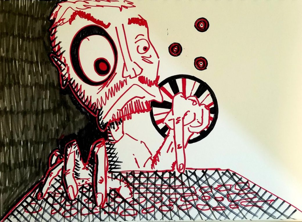 Self Portrait by S.C. Barrus - Sharpie, Marker, Drawing