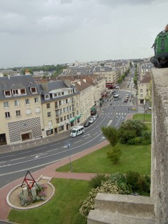 Looking out from the château