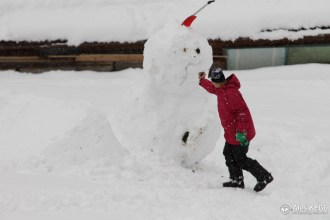 The abuse of the snowman just did not end