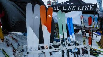 Melt presented their waxfree skis
