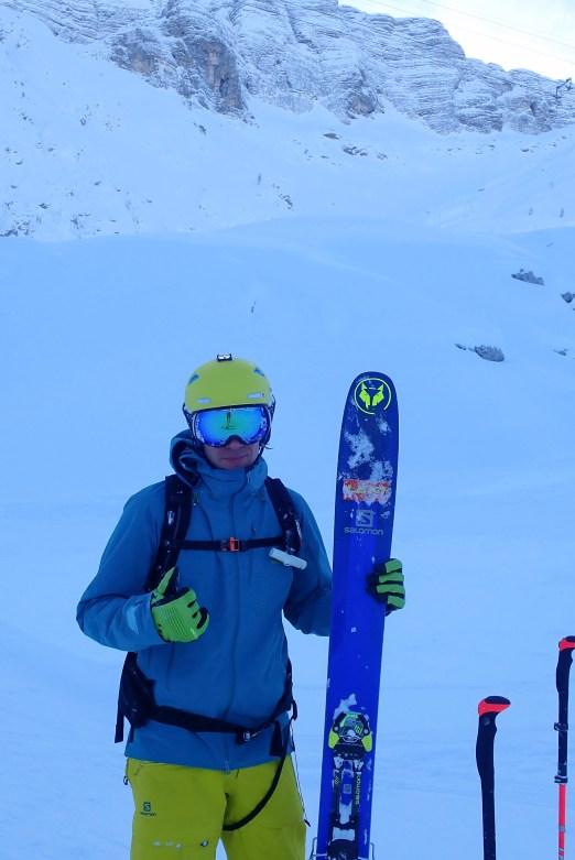Finally managed to put that Leki sticker on my fat ski.