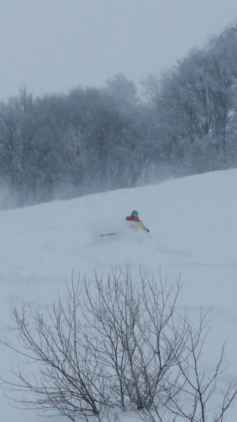 It was blower pow.