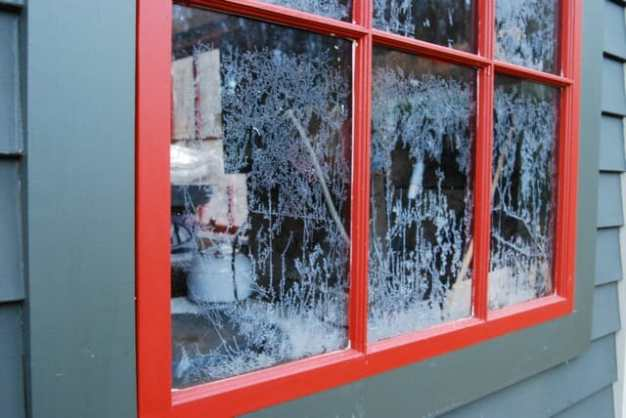frost on panes