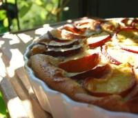 clafoutis batter, universal solvent of fruit dessert