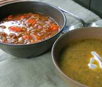 simmering harvest-flavor soups, and a book