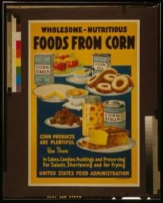 vintage corn food poster