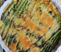 in season: easy asparagus-parmesan bake