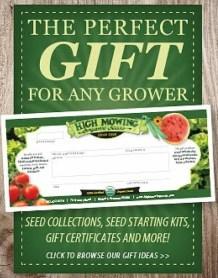 high mowing gift cert