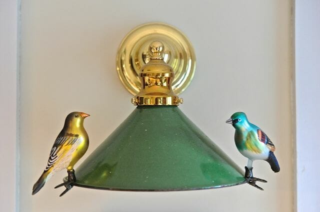 birds on lampshade