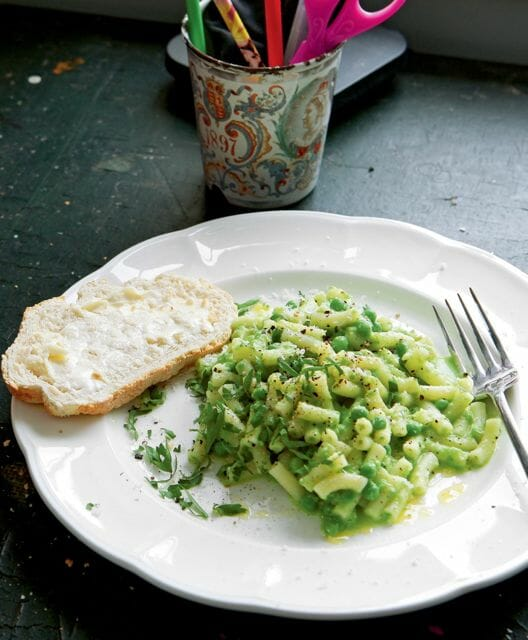River Cottage Veg cookbook Macaroni Peas (Simon Wheeler photo)