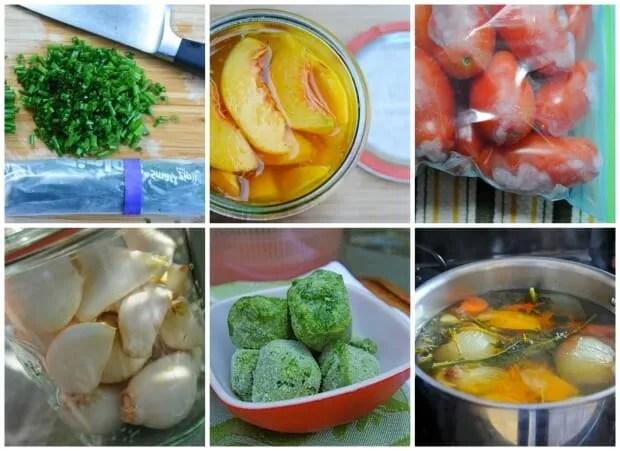 freezing garden herbs, fruit, vegetables