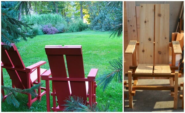 Wave Hill chairs, painted and in the raw