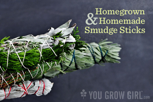 Gayla Trail's homegrown, homemade smudge sticks