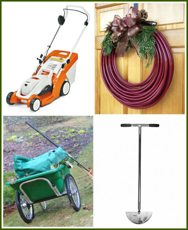 Stihl battery mower, Water Right hose, Smart Cart, Sneeboer stainless edger