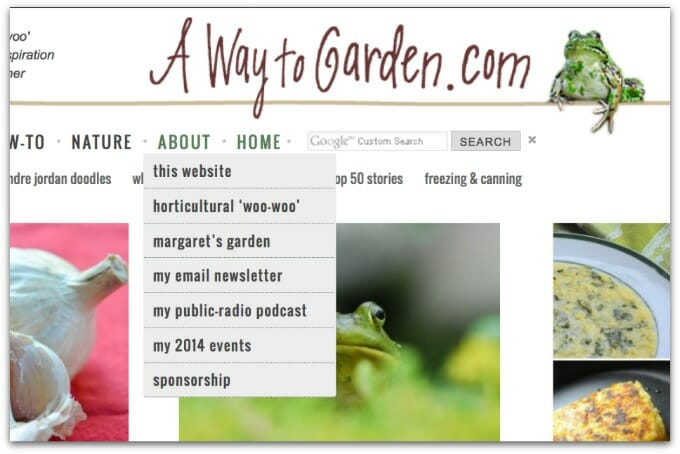 about navigation buttons A Way to Garden