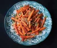 bryant terry's glazed carrot salad, from his 'afro-vegan' cookbook
