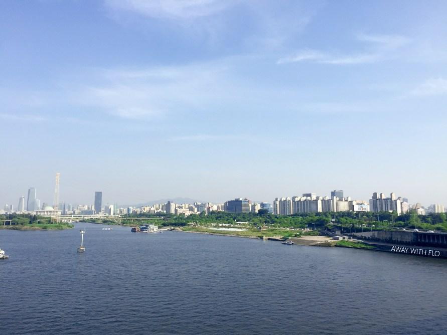Han River from Seongsan Bridge, Seoul