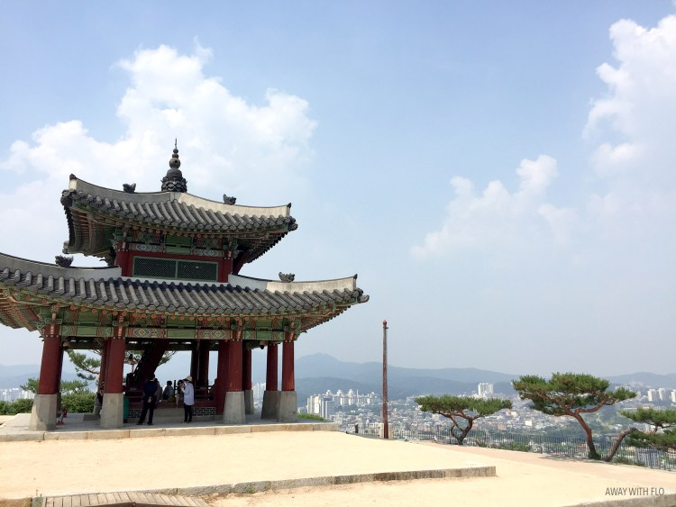 The pavilion at the top