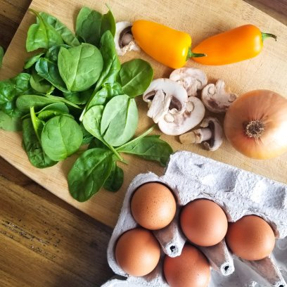 Healthy Spinach Omelette Ingredients
