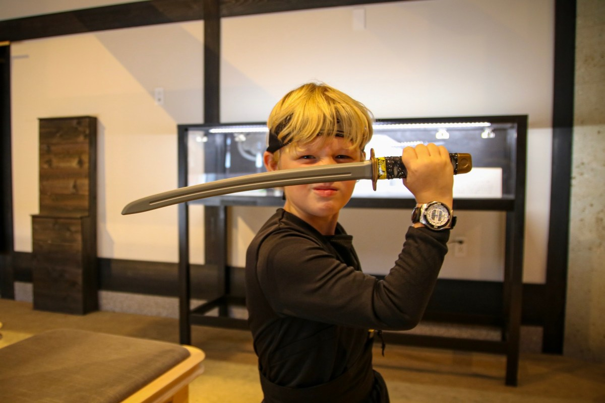 Visiting Nikko with kids. At the Ninja Wonderland.