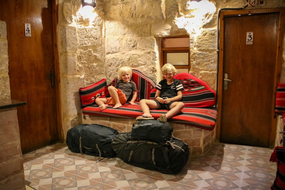Family travel to Israel. The kids at our hostel in Jerusalem.