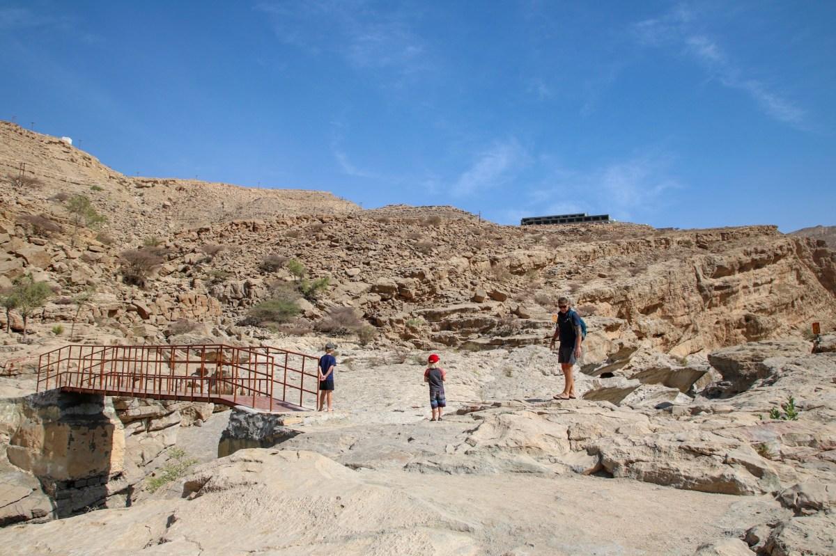 Visiting Wadi Bani Khalid. The entrance to the wadi.