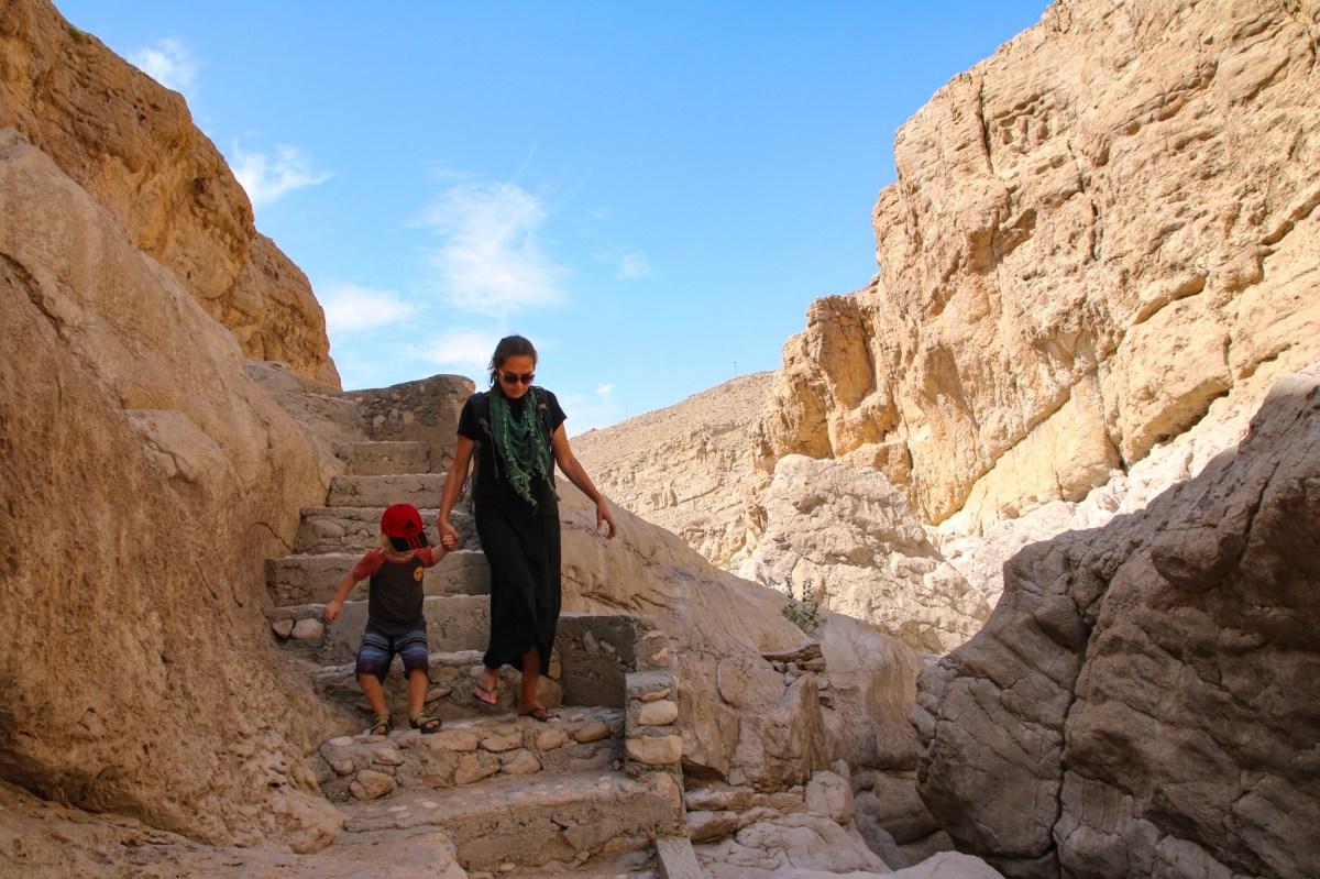 Family travel in Oman.