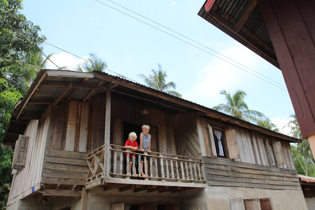 Our homestay house in Ban Lae village, Laos.
