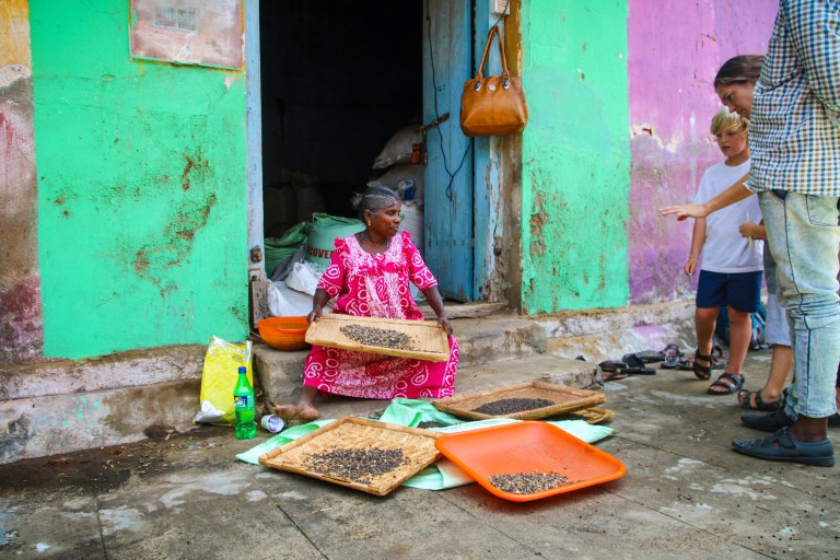 Visiting the spice markets in Kochi during our five days in Kerala.