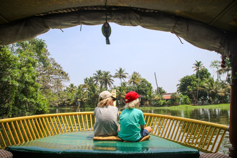 Taking a boat ride on the backwaters was a highlight of our five days in Kerala.