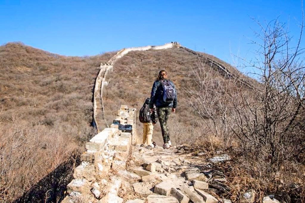 Hiking the Great Wall of China during three days in Beijing.