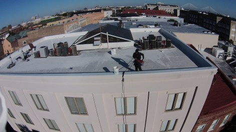 High Rise Window Washing Downtown Charleston 2